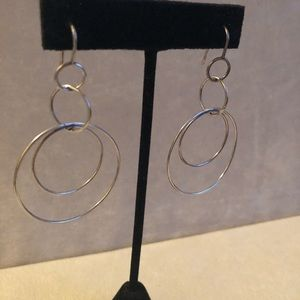 Sterling silver handmade hoops with hoops